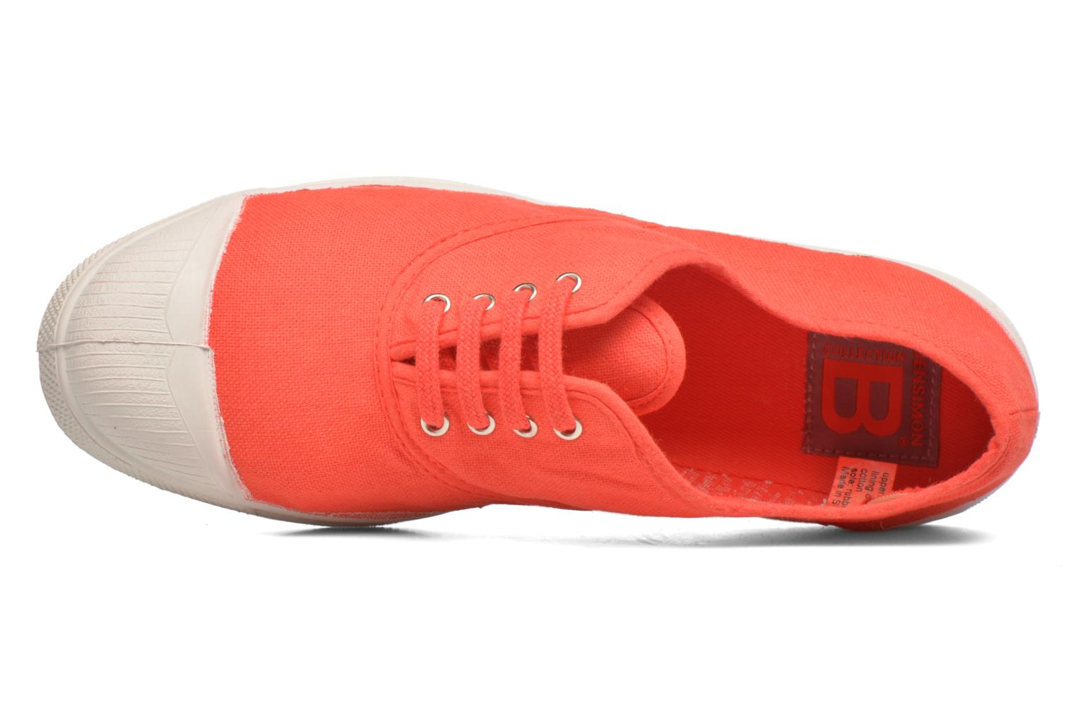 Trainers Bensimon Tennis Lacets Red view from the left