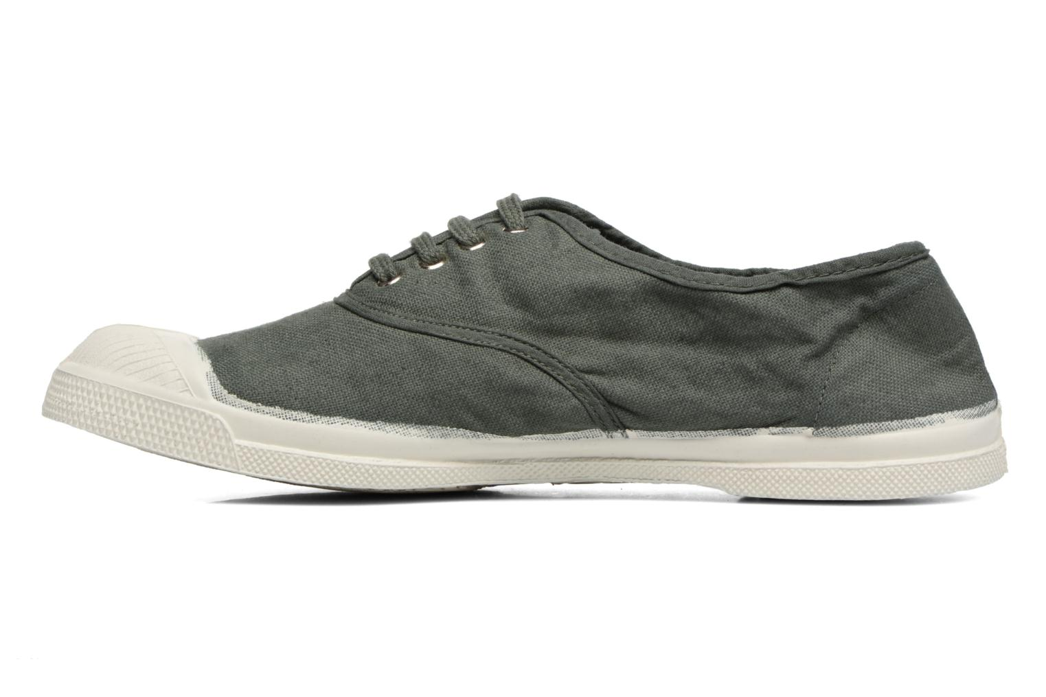 Trainers Bensimon Tennis Lacets Green front view