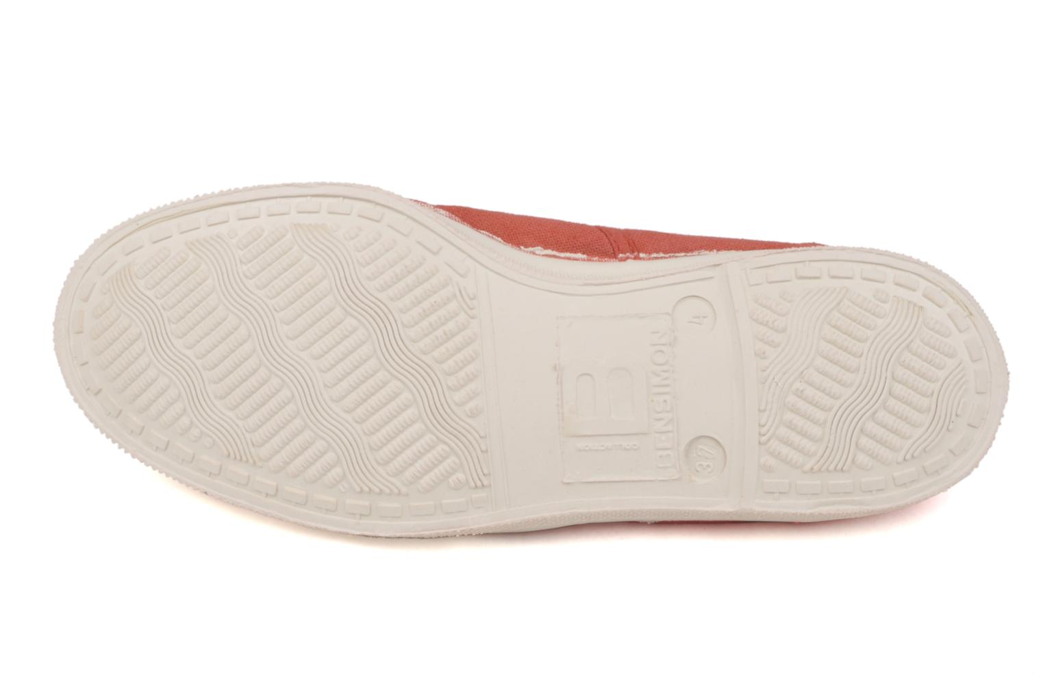 Baskets Bensimon Tennis Lacets W Orange vue haut