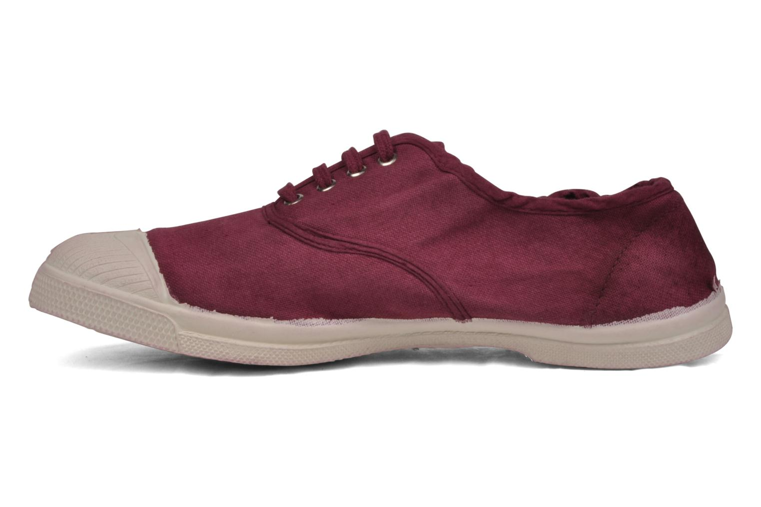 Trainers Bensimon Tennis Lacets Burgundy front view
