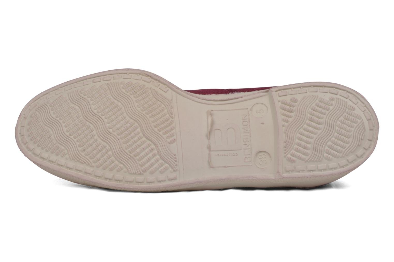 Trainers Bensimon Tennis Lacets Burgundy view from above