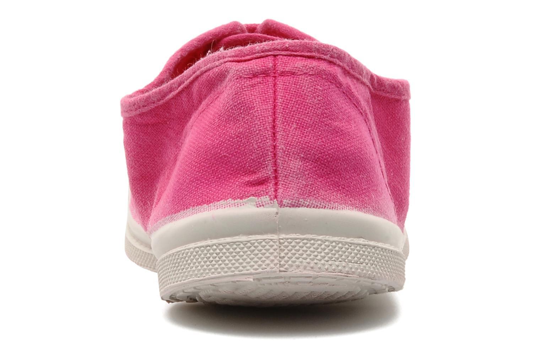 Sneaker Bensimon Tennis Lacets rosa ansicht von rechts