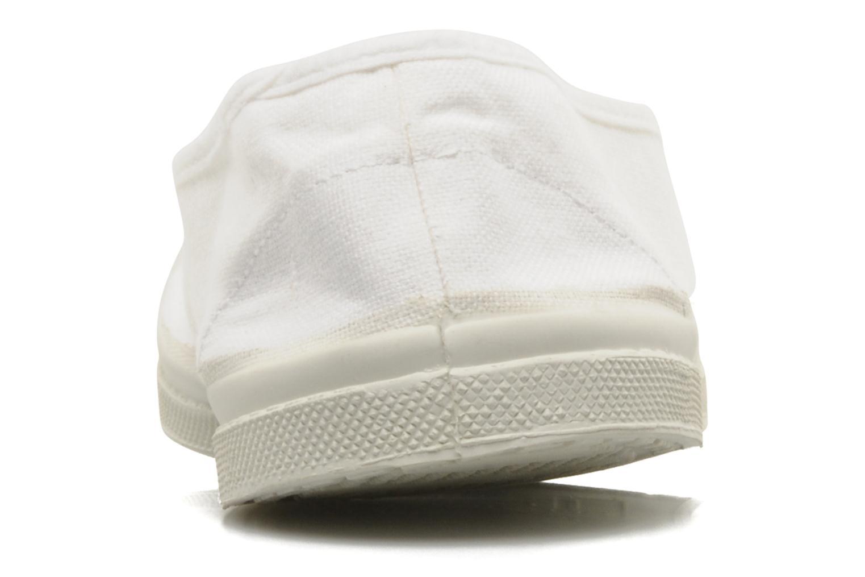 Ballerines Bensimon Tennis Elastique Blanc vue droite