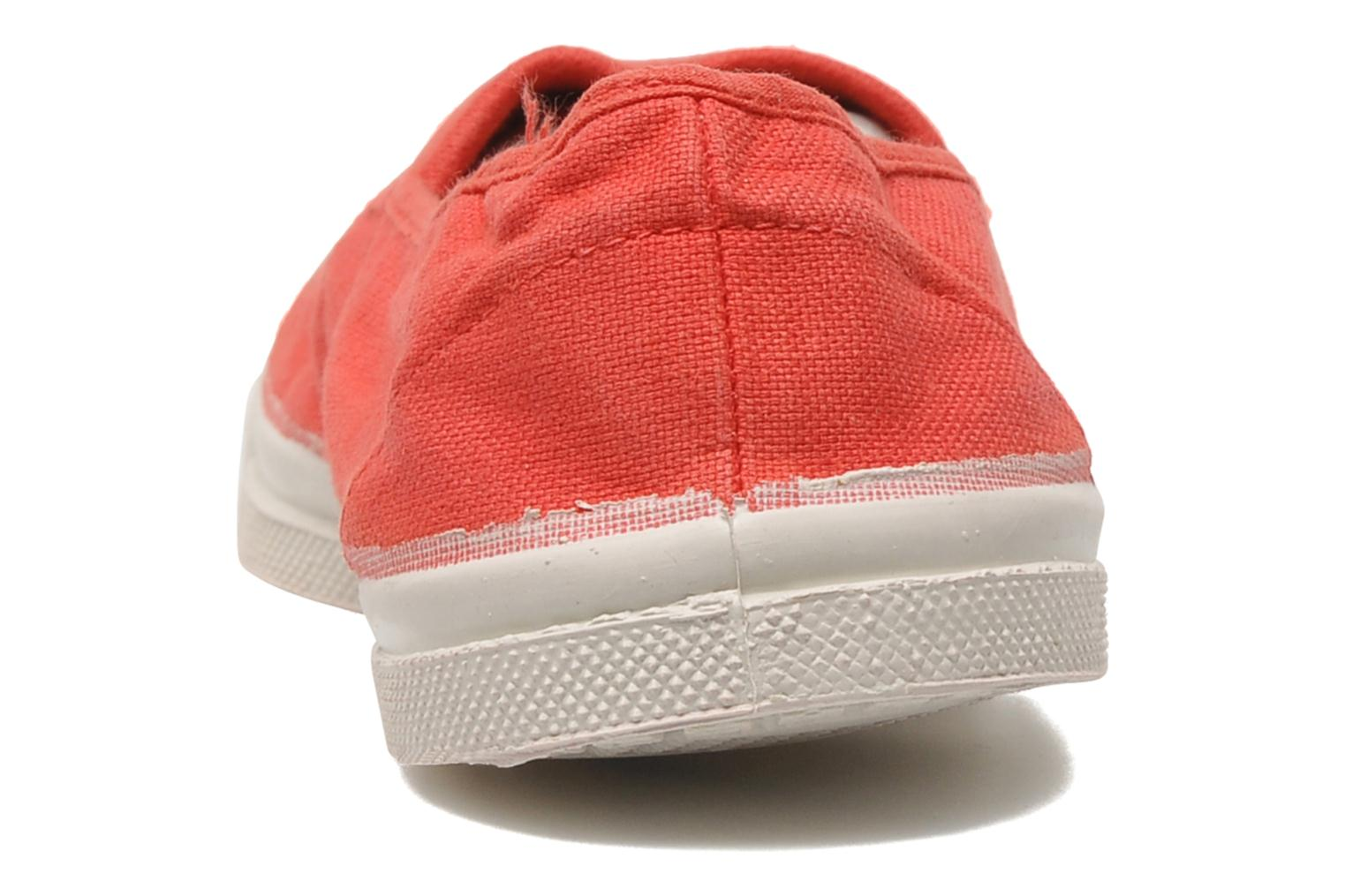 Ballet pumps Bensimon Tennis Elastique Red view from the right