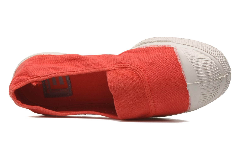 Ballerines Bensimon Tennis Elastique Rouge vue gauche