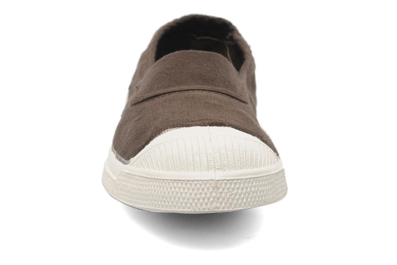 Ballerines Bensimon Tennis Elastique Marron vue portées chaussures