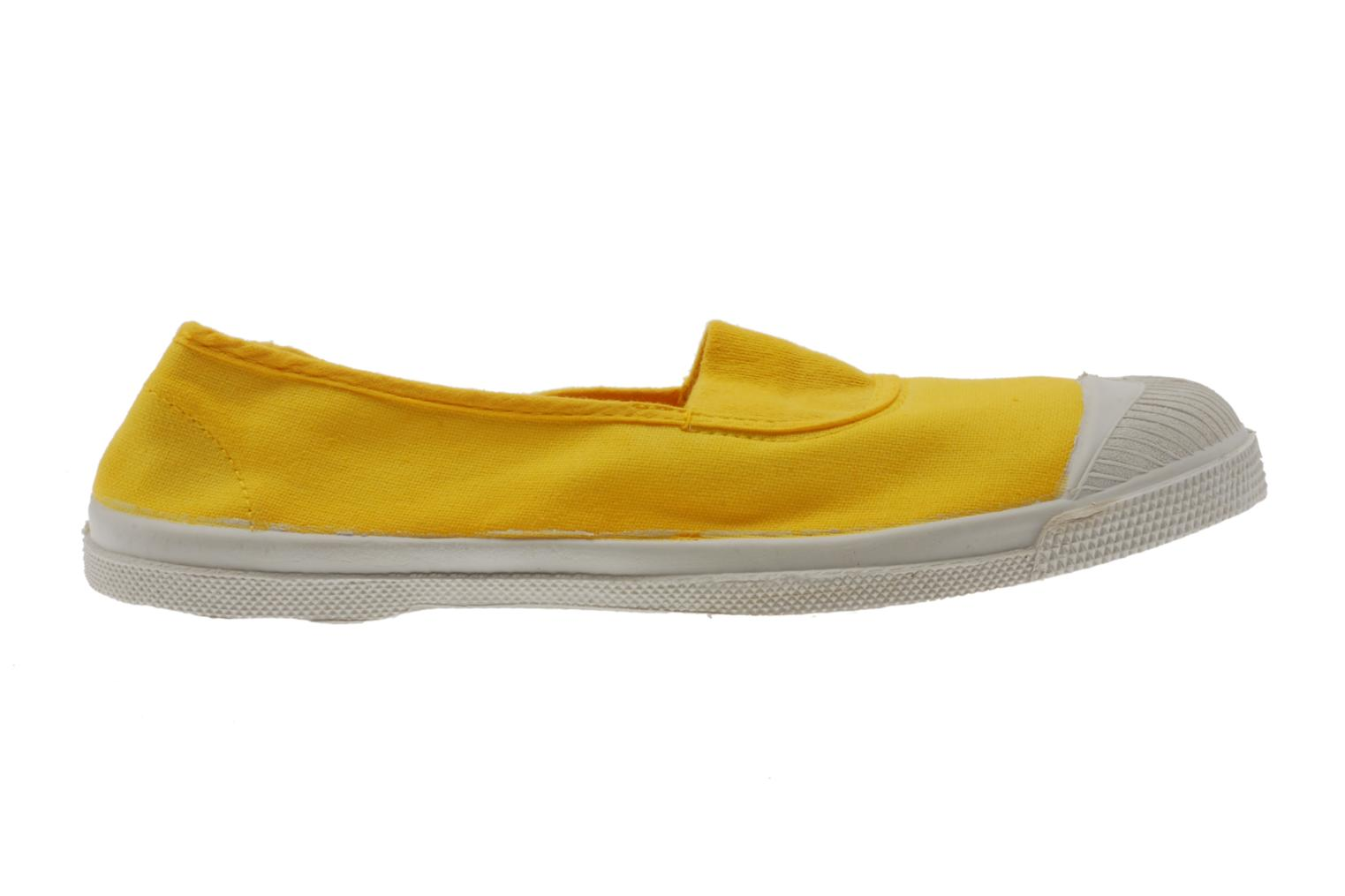 Ballet pumps Bensimon Tennis Elastique Yellow back view