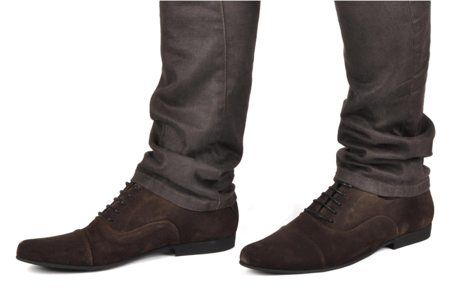 Lace-up shoes Swear Jimmy 1 Brown view from underneath / model view