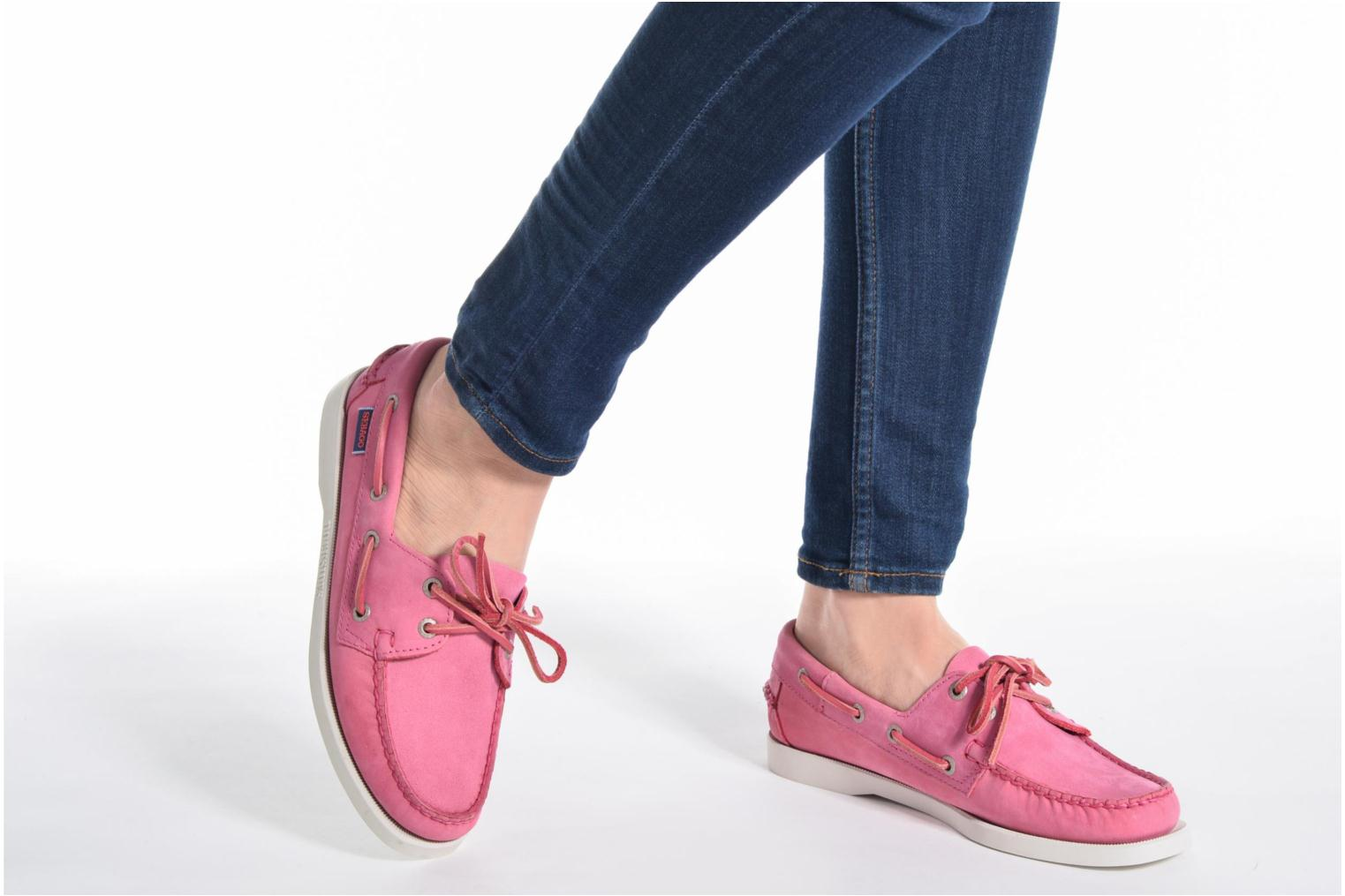 Lace-up shoes Sebago Docksides W Blue view from underneath / model view