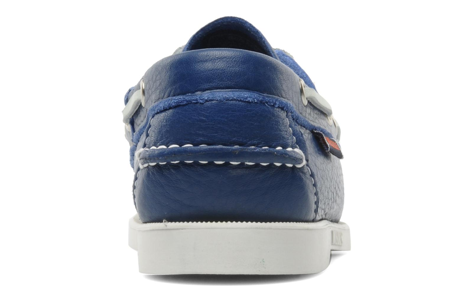 Lace-up shoes Sebago Docksides W Blue view from the right