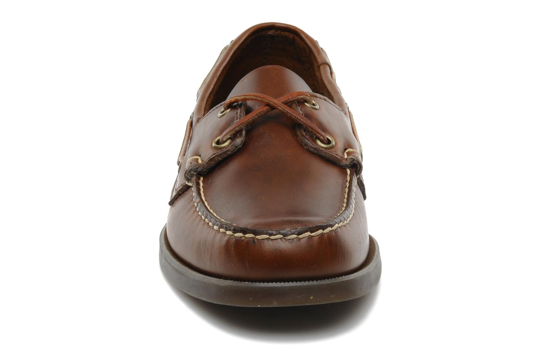 Lace-up shoes Sebago Docksides M Brown model view