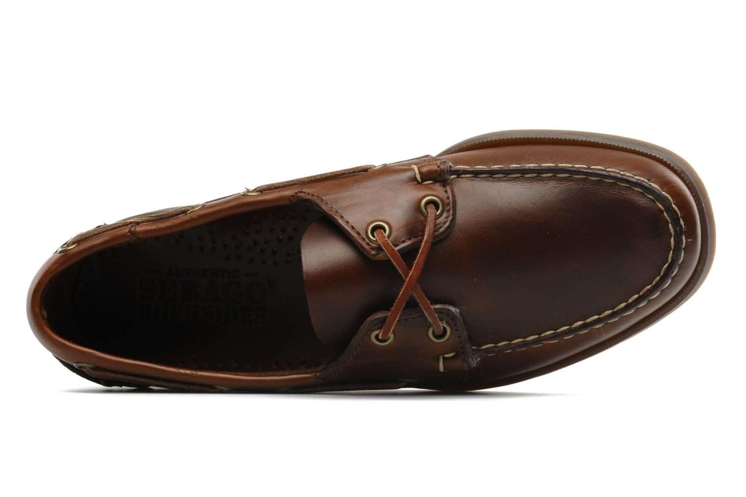Veterschoenen Sebago Docksides M Bruin links