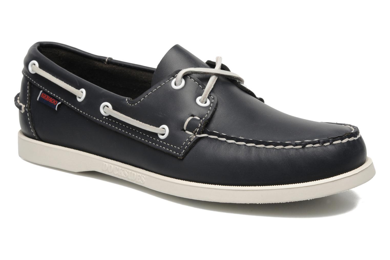Chaussures à lacets Sebago Docksides M Bleu vue détail/paire