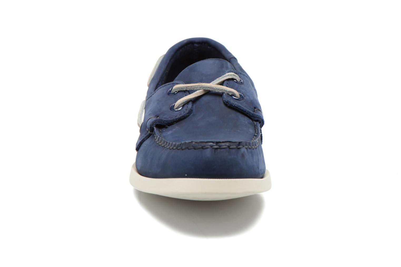 Snörade skor Sebago Docksides M Blå bild av skorna på
