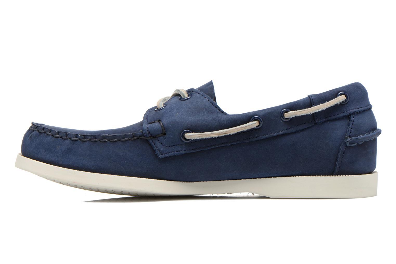 Lace-up shoes Sebago Docksides M Blue front view