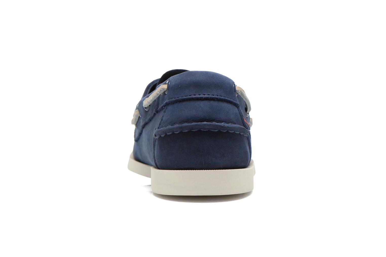 Snörade skor Sebago Docksides M Blå Bild från höger sidan