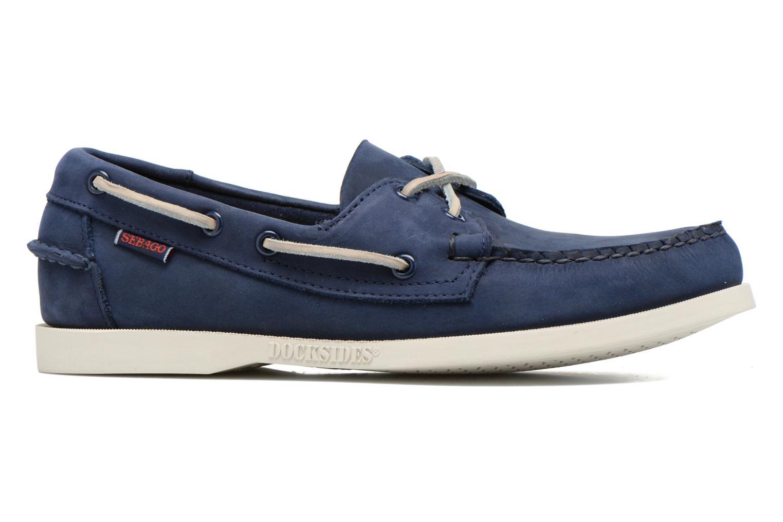 Snörade skor Sebago Docksides M Blå bild från baksidan