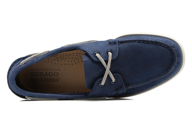 Snörade skor Sebago Docksides M Blå bild från vänster sidan