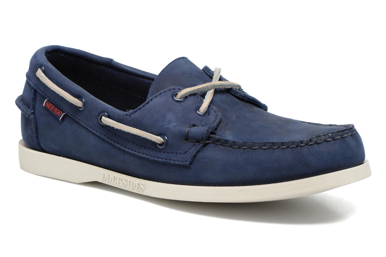 Snörade skor Sebago Docksides M Blå detaljerad bild på paret
