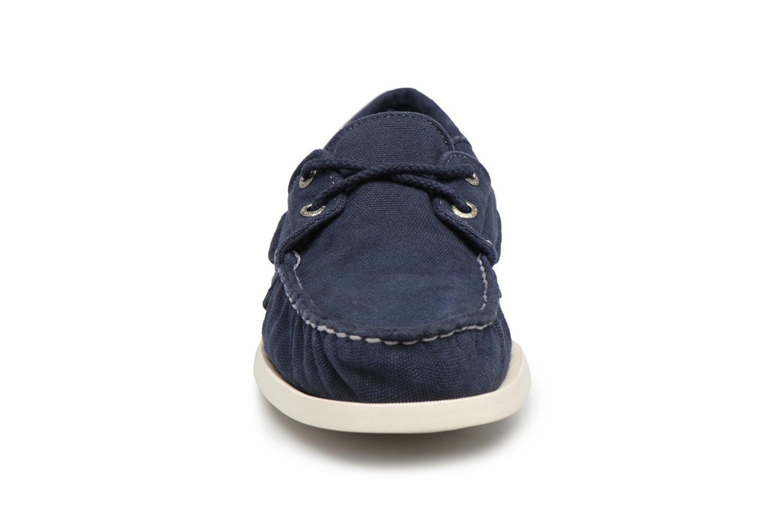 Scarpe con lacci Sebago Docksides M Azzurro modello indossato