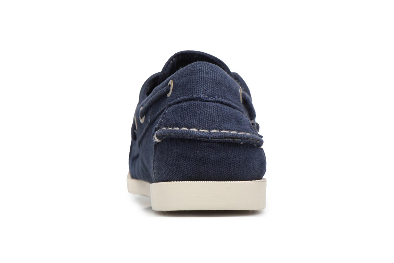 Zapatos con cordones Sebago Docksides M Azul vista lateral derecha