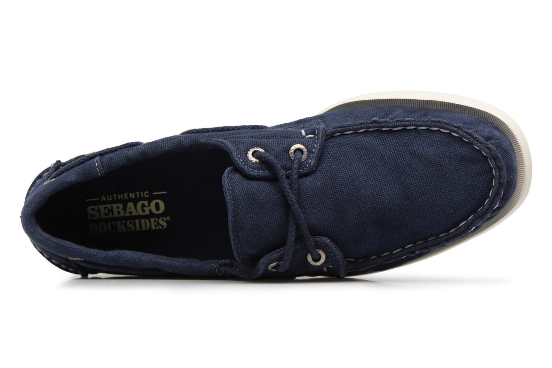 Schnürschuhe Sebago Docksides M blau ansicht von links