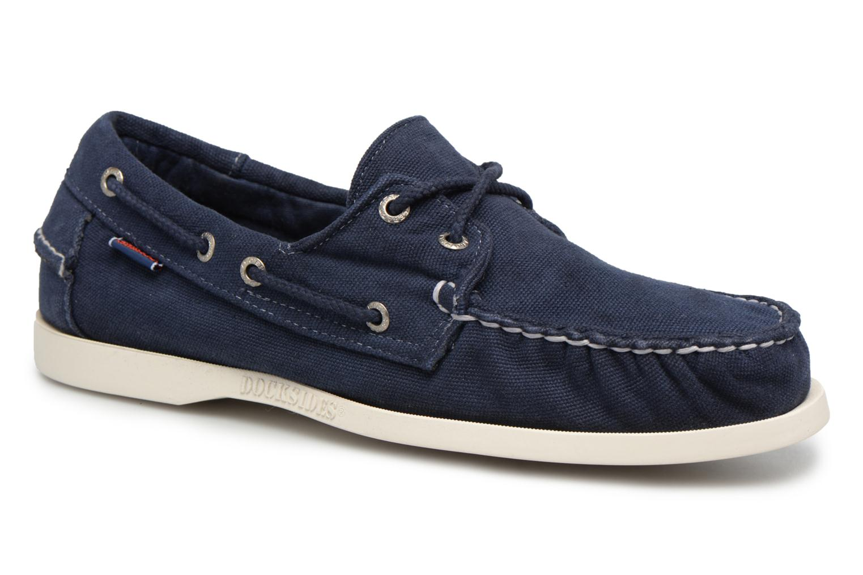 Zapatos con cordones Sebago Docksides M Azul vista de detalle / par
