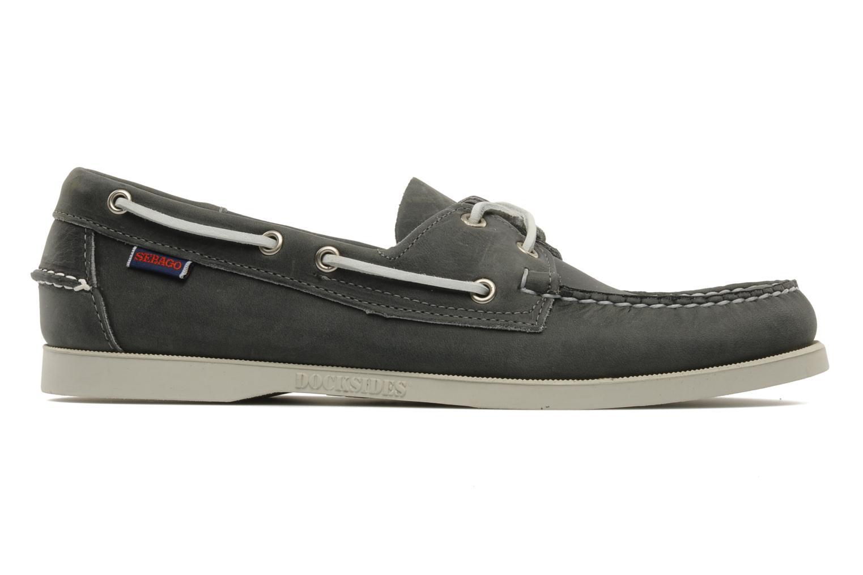 Lace-up shoes Sebago Docksides M Grey back view