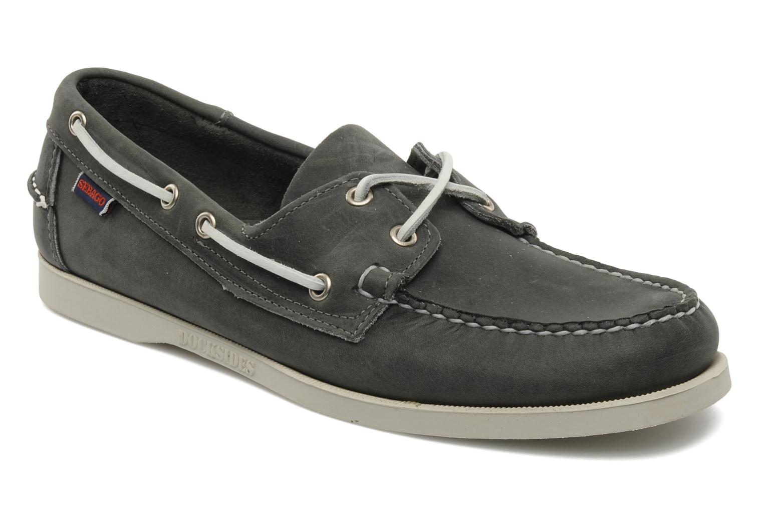 Lace-up shoes Sebago Docksides M Grey detailed view/ Pair view