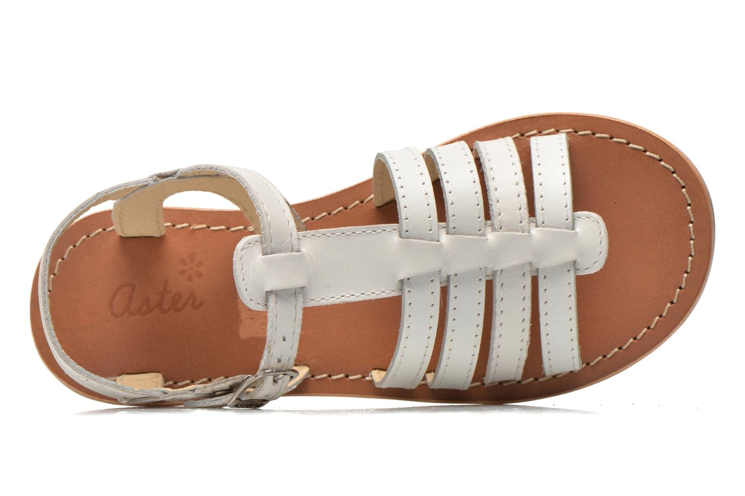 Sandals Aster Vibride White view from the left