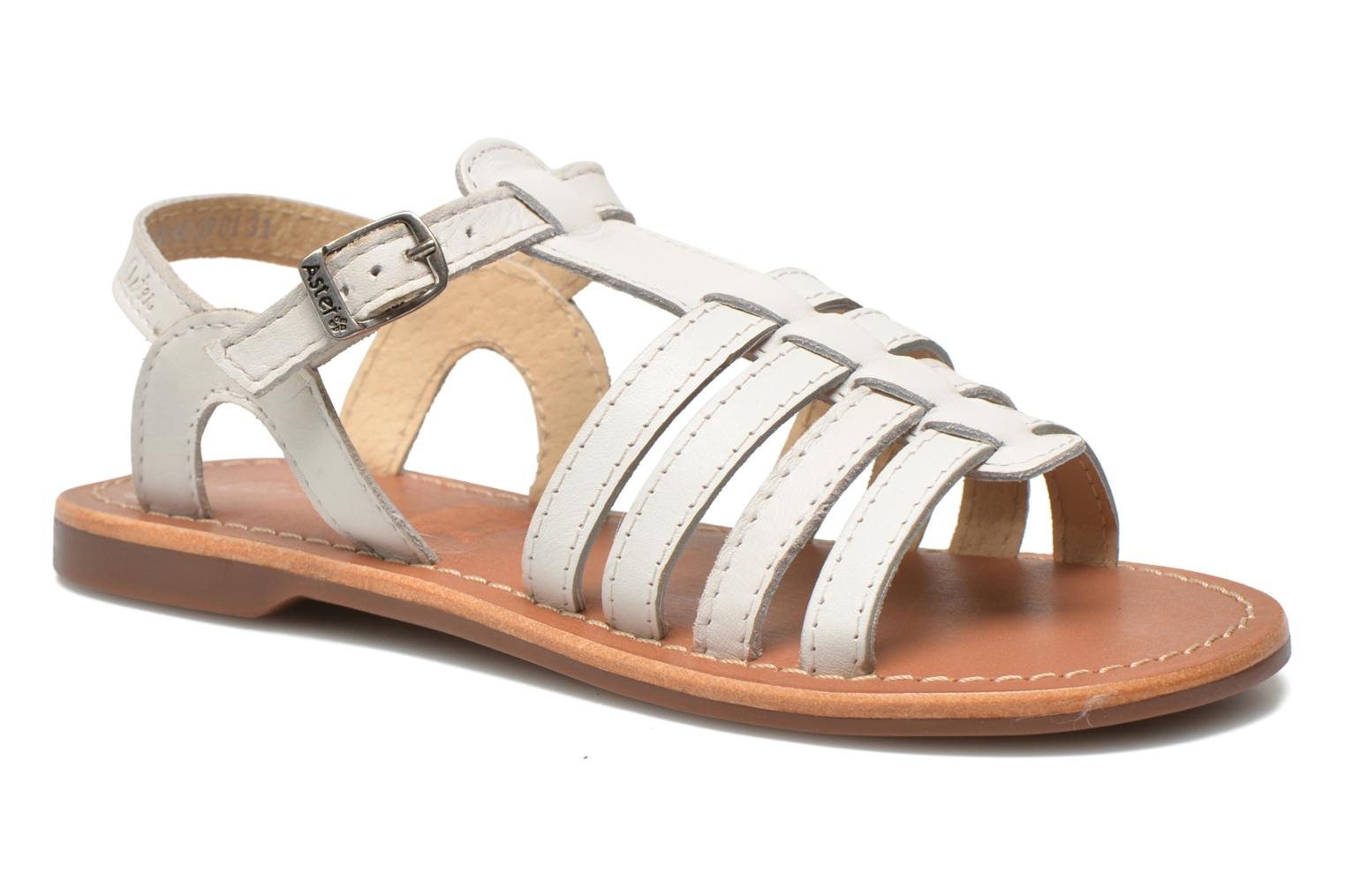 Sandals Aster Vibride White detailed view/ Pair view