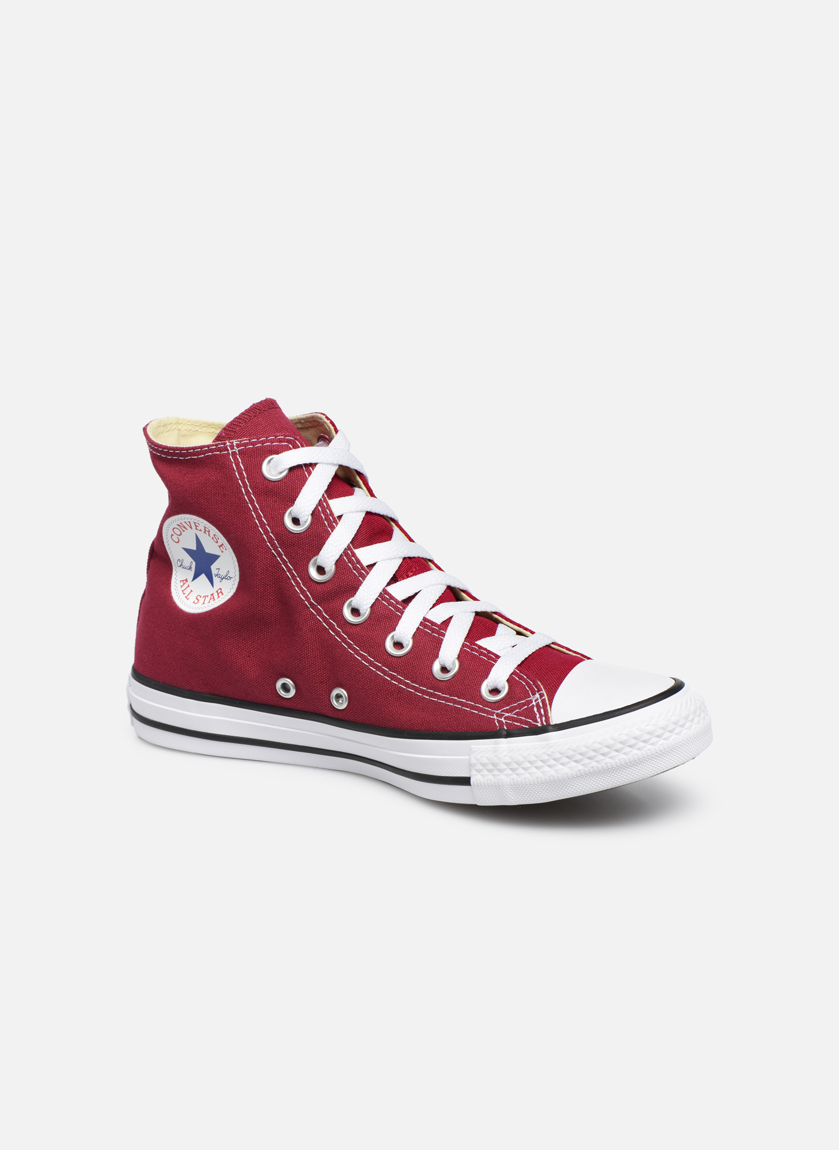 Baskets Converse Chuck Taylor All Star Hi W Bordeaux vue détail/paire