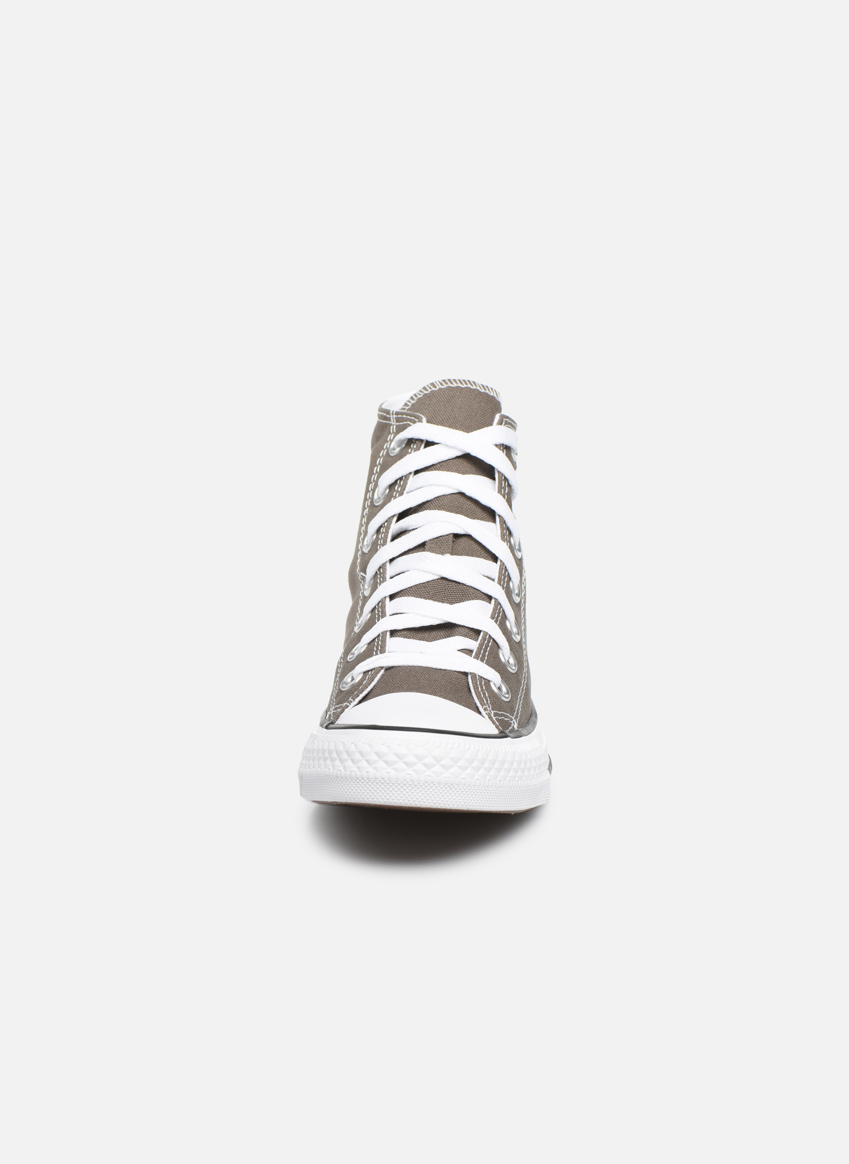 Sneaker Converse Chuck Taylor All Star Hi W grau schuhe getragen