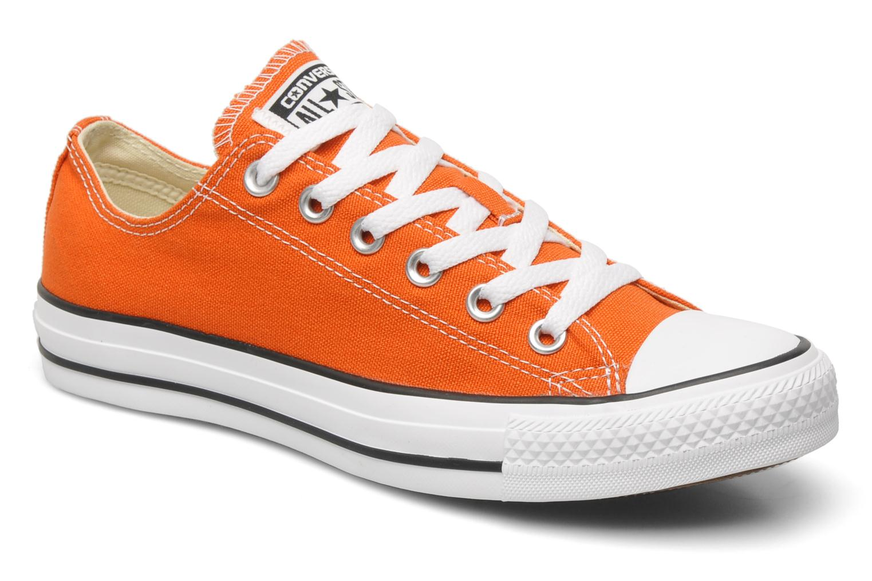 converse orange basse