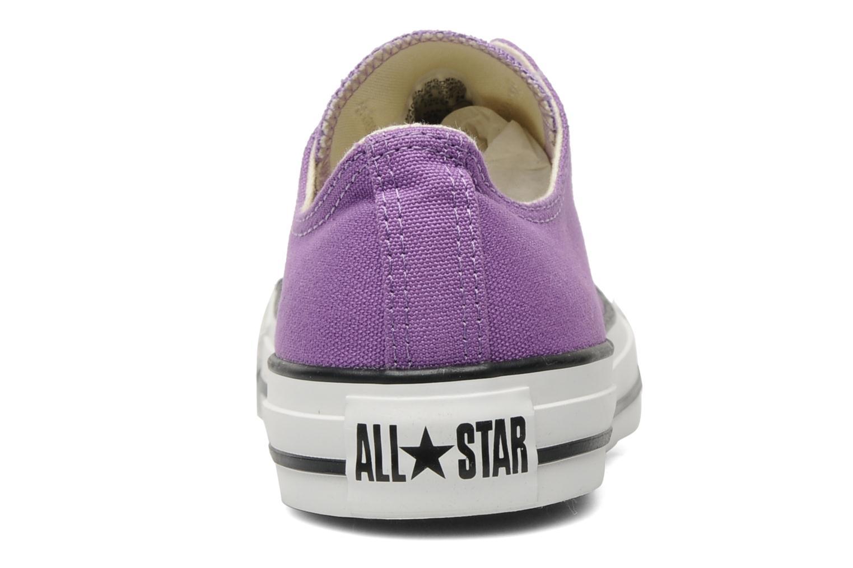 Sneaker Converse Chuck Taylor All Star Ox W lila ansicht von rechts