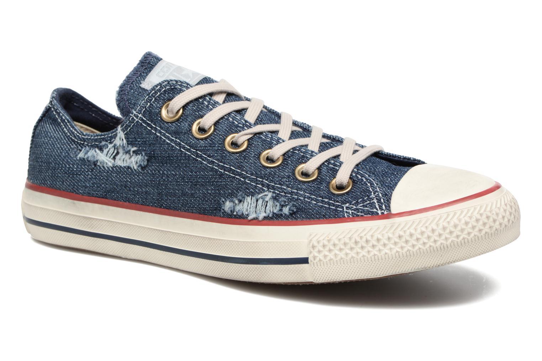 Baskets Converse Chuck Taylor All Star Ox W Bleu vue détail/paire
