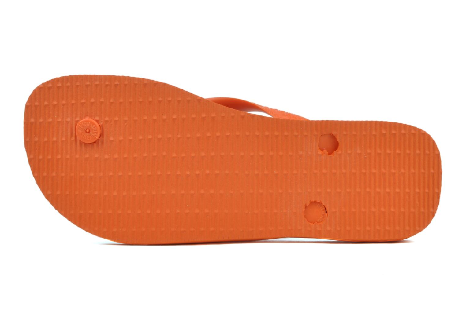 Tongs Havaianas Top F Orange vue haut