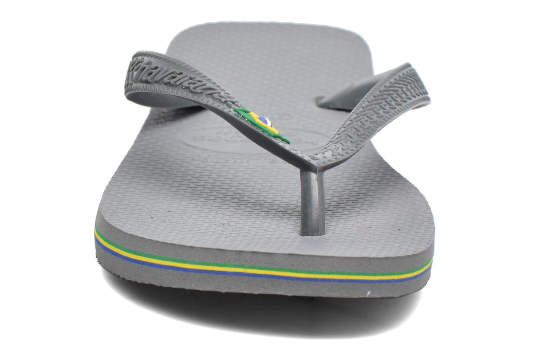 Tongs Havaianas Brazil Femme Gris vue portées chaussures