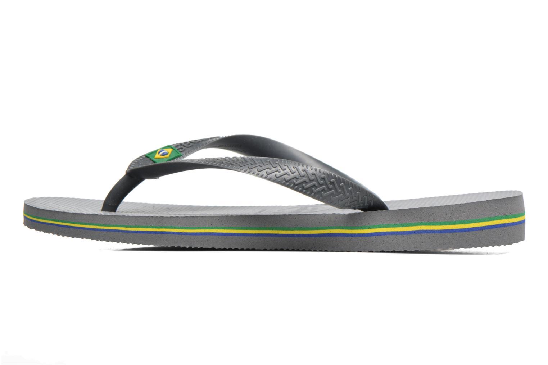 Flip flops Havaianas Brazil Femme Grey front view