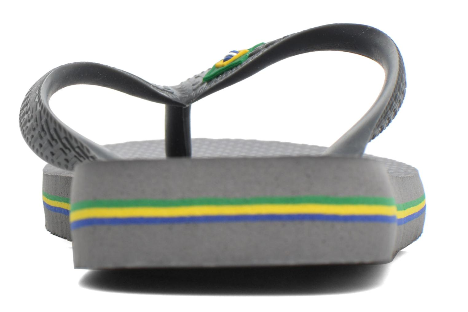 Flip flops Havaianas Brazil Femme Grey view from the right