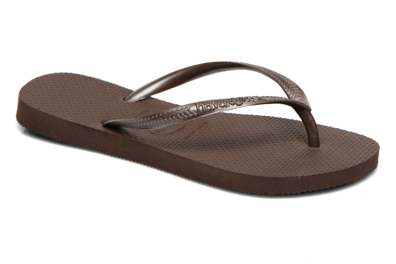 Tongs Havaianas Slim Metallic F Marron vue détail/paire