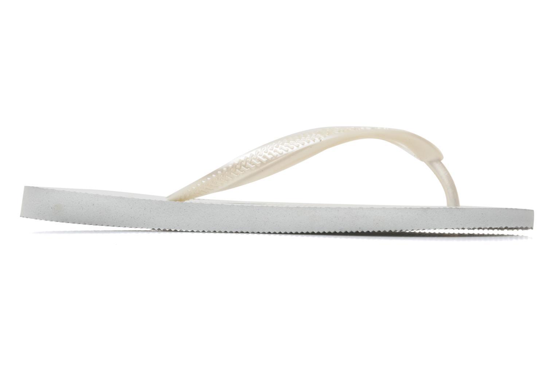 Slippers Havaianas Slim Métallic Femme Wit achterkant