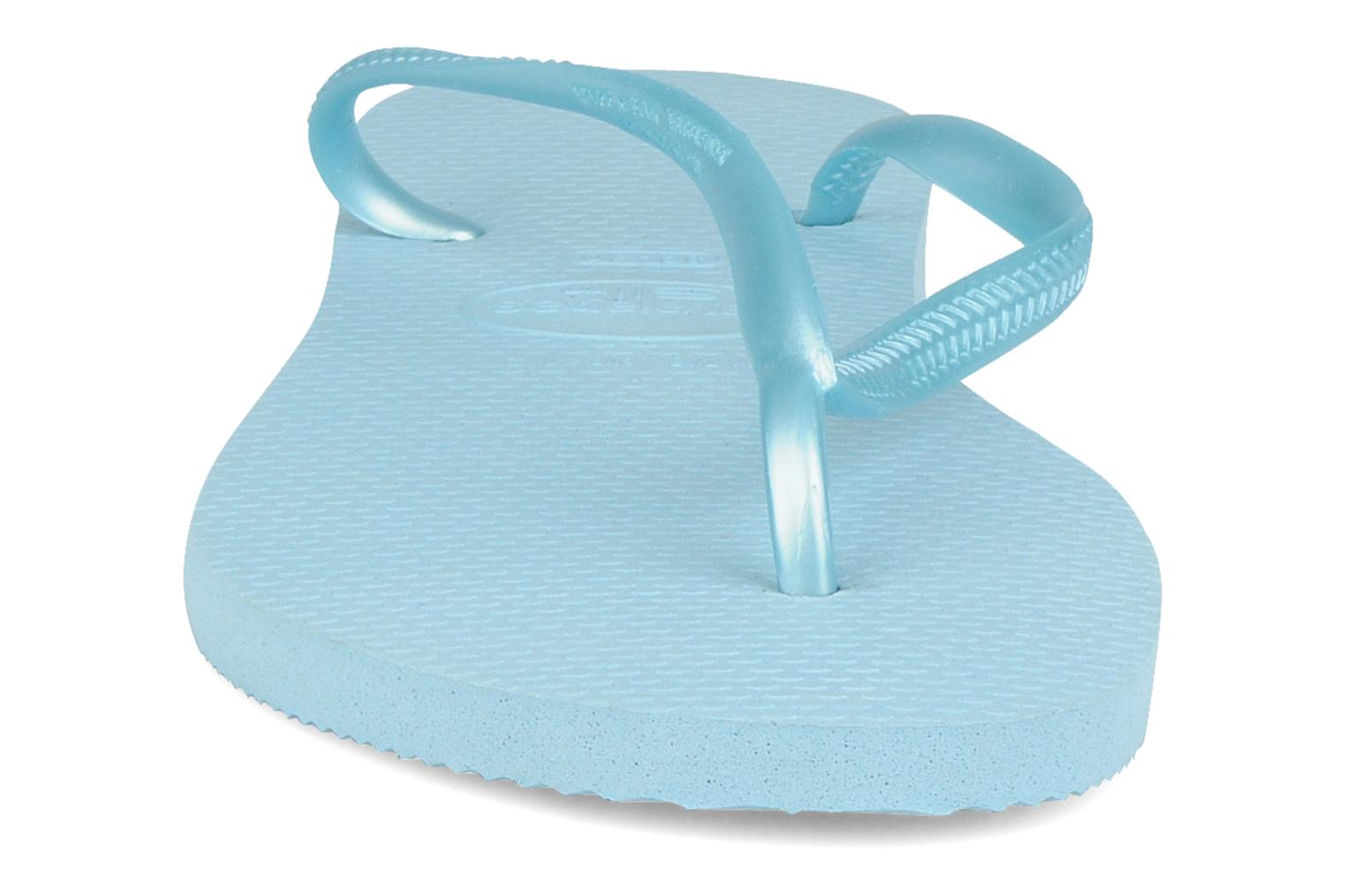 Slim Métallic Femme Light blue