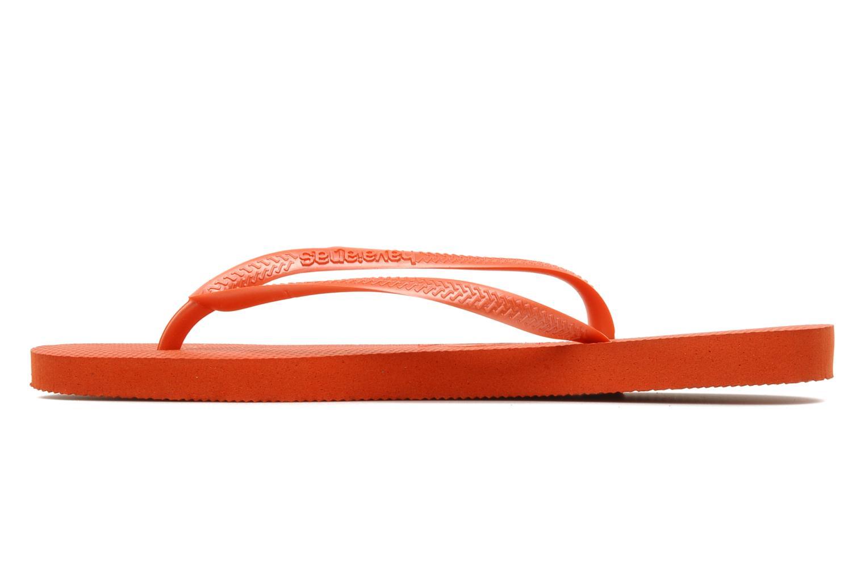Slippers Havaianas Slim Métallic Femme Oranje voorkant