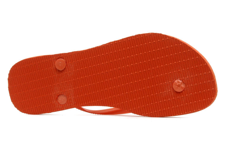 Flip flops Havaianas Slim Métallic Femme Orange view from above
