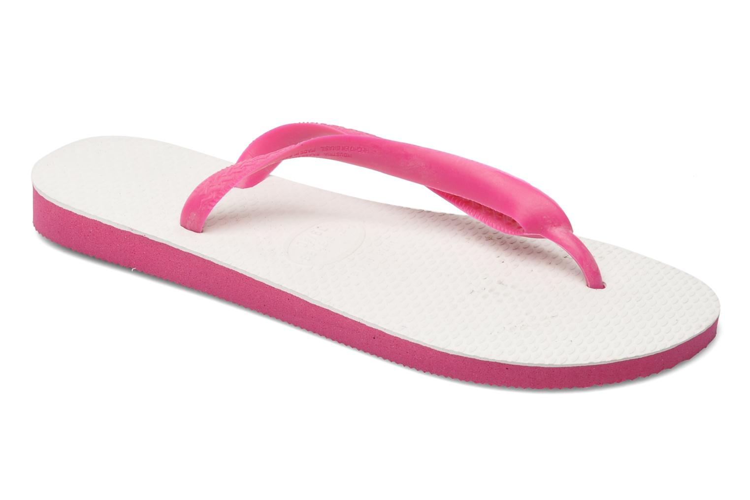 Flip flops Havaianas Tradicional Femme Pink detailed view/ Pair view
