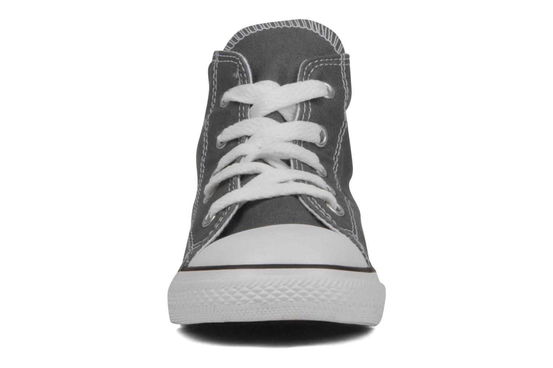 Sneaker Converse Chuck Taylor All Star Hi K grau schuhe getragen