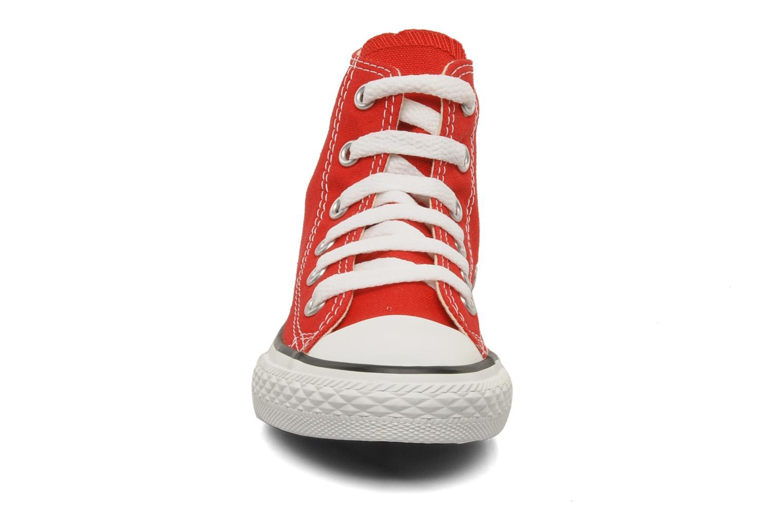 Sneaker Converse Chuck Taylor All Star Hi K rot schuhe getragen