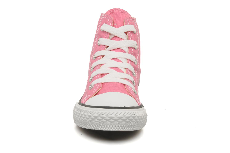 Baskets Converse Chuck Taylor All Star Hi K Rose vue portées chaussures