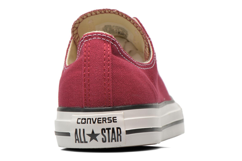 Sneaker Converse Chuck Taylor All Star Ox M weinrot ansicht von rechts